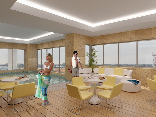 Terraza y Piscina – Quo Luxury Apartments